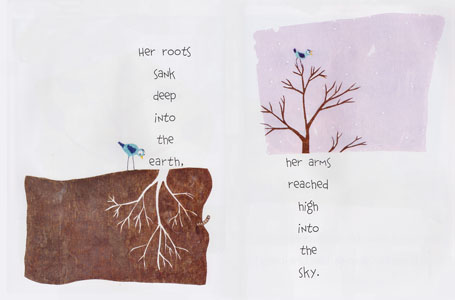 Spread from A Grand Old Tree by Mary Newell DePalma