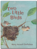 link to blog post about Two Little Birds by Mary Newell DePalma
