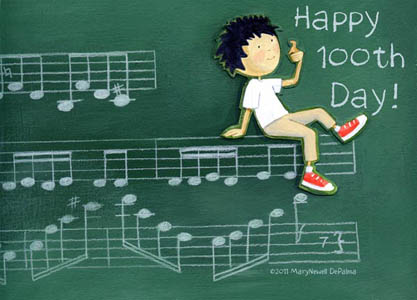 Illustration by Mary Newell DePalma from Happy 100th Day