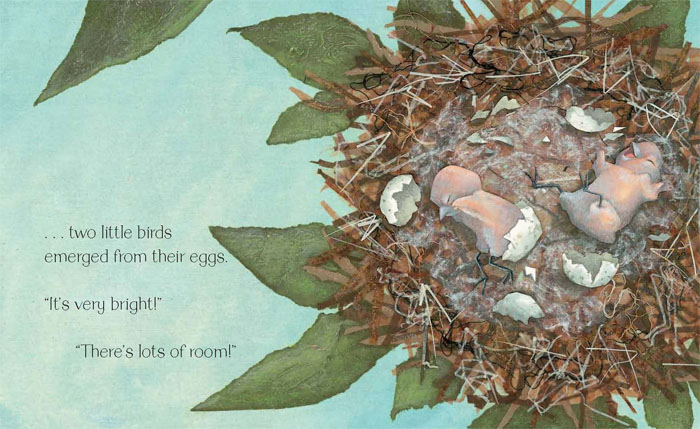 Illustration from Two Little Birds by Mary Newell DePalma