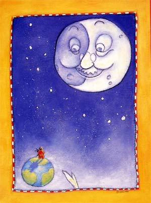 Moon illustration by Mary Newell DePalma