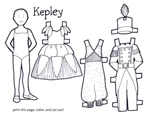 Kepley paper dolls by Mary Newell DePalma