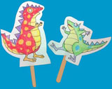 Dinosaur puppets by Mary Newell DePalma