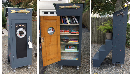 Porthole Little Free Library by Mary Newell DePalma
